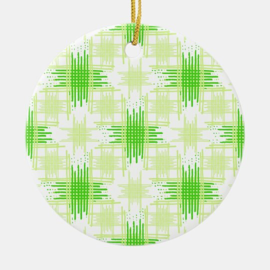 Intersecting Lines Pattern Ceramic Ornament