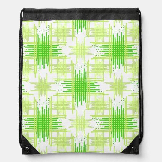 Intersecting Lines Pattern Drawstring Bag
