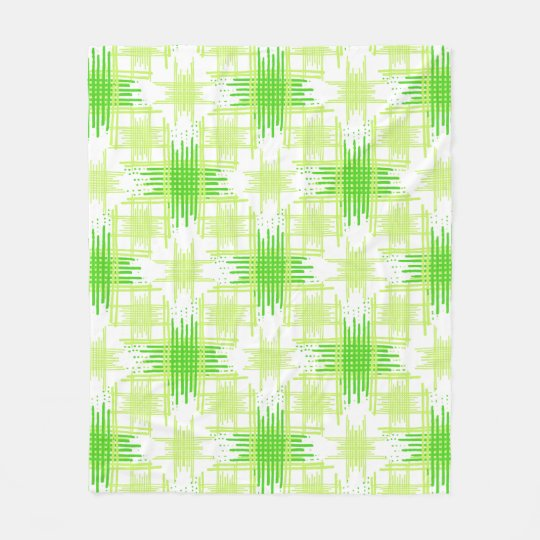 Intersecting Lines Pattern Fleece Blanket