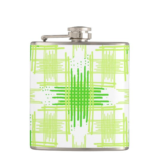 Intersecting Lines Pattern Hip Flask