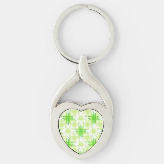 Intersecting Lines Pattern Keychain