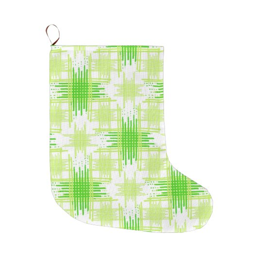 Intersecting Lines Pattern Large Christmas Stocking