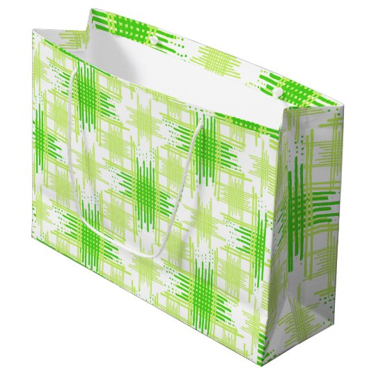 Intersecting Lines Pattern Large Gift Bag