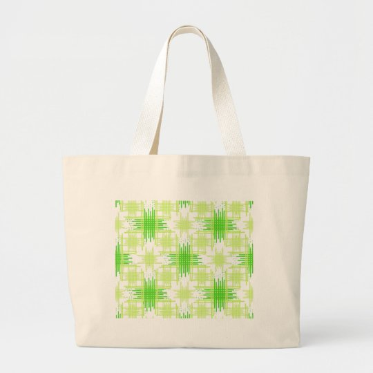 Intersecting Lines Pattern Large Tote Bag
