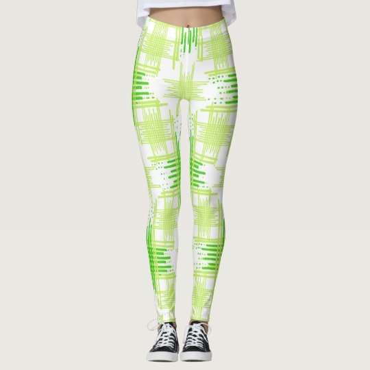 Intersecting Lines Pattern Leggings