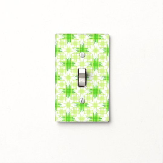 Intersecting Lines Pattern Light Switch Cover