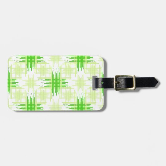 Intersecting Lines Pattern Luggage Tag