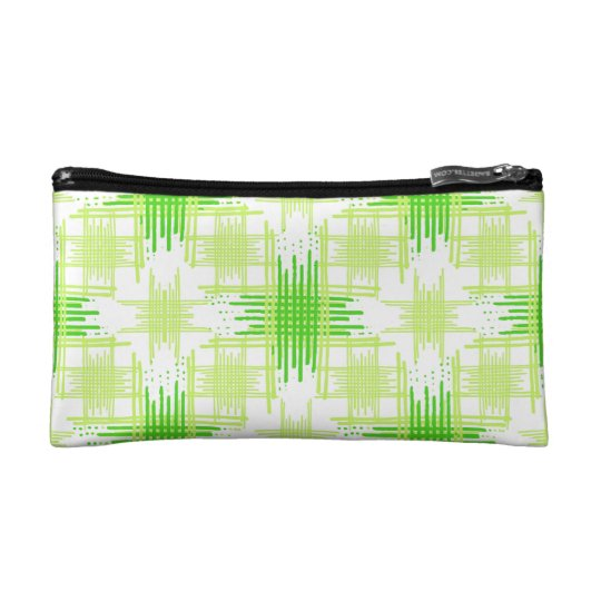 Intersecting Lines Pattern Makeup Bag
