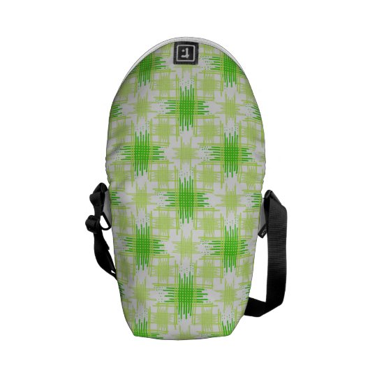 Intersecting Lines Pattern Messenger Bags