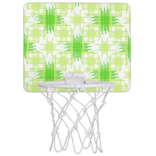 Intersecting Lines Pattern Mini Basketball Hoop