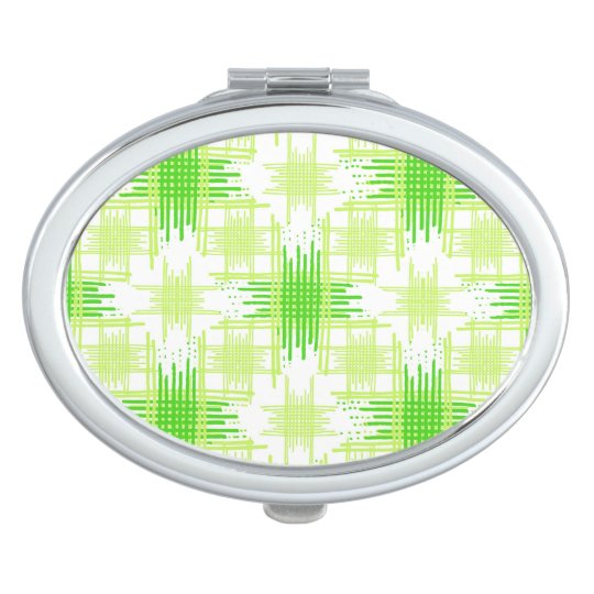 Intersecting Lines Pattern Mirror For Makeup