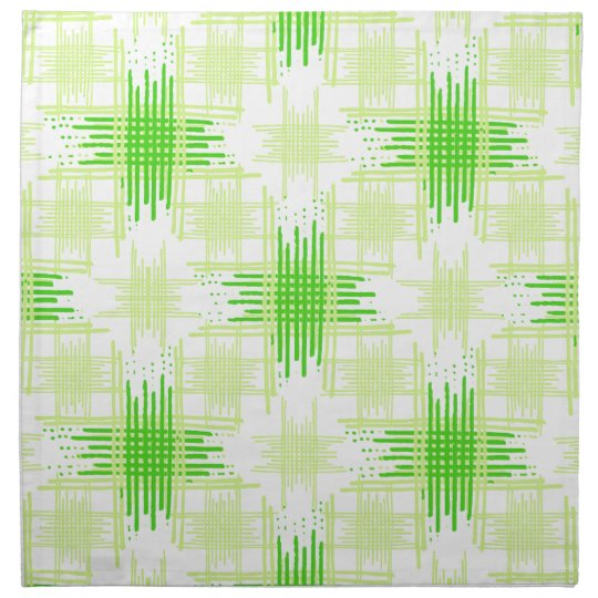 Intersecting Lines Pattern Napkin