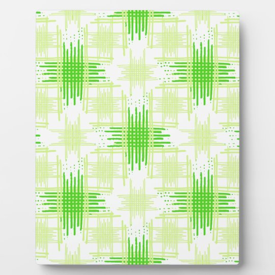 Intersecting Lines Pattern Plaque