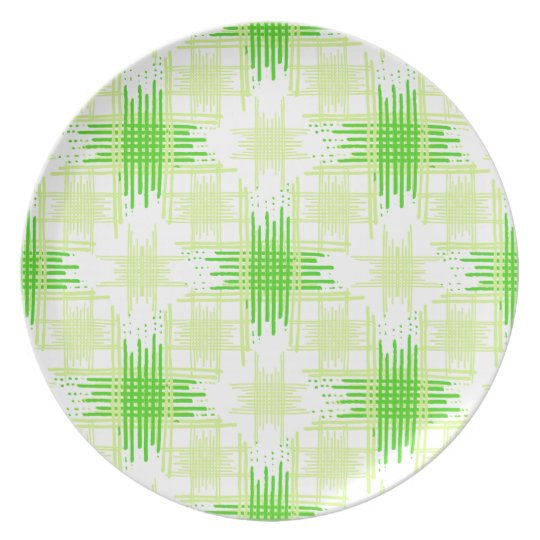 Intersecting Lines Pattern Plate