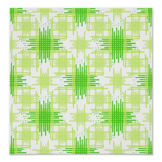 Intersecting Lines Pattern Poster
