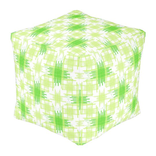 Intersecting Lines Pattern Pouf