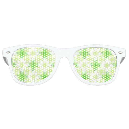 Intersecting Lines Pattern Retro Sunglasses