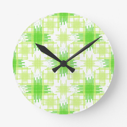 Intersecting Lines Pattern Round Clock