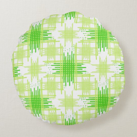 Intersecting Lines Pattern Round Pillow