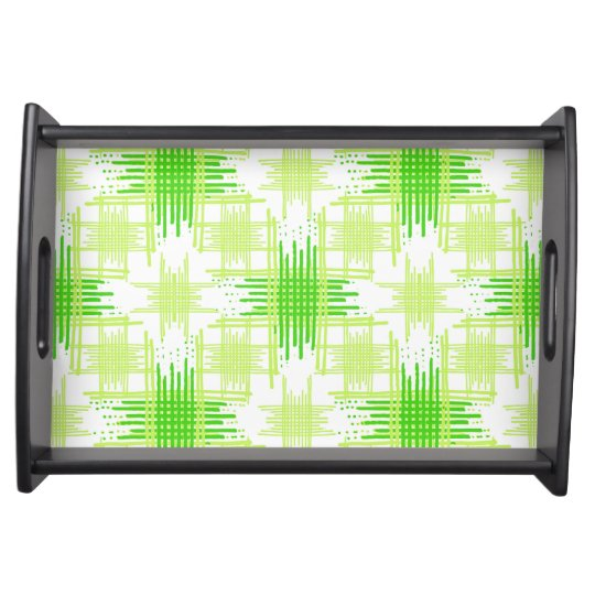 Intersecting Lines Pattern Serving Tray