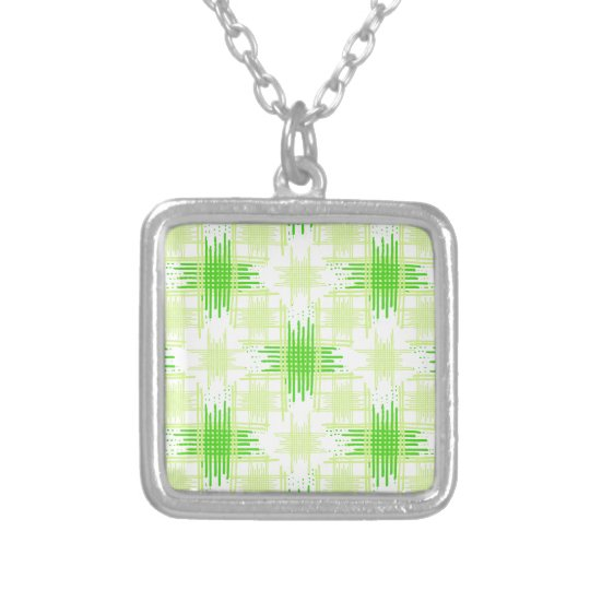 Intersecting Lines Pattern Silver Plated Necklace