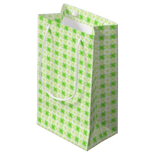 Intersecting Lines Pattern Small Gift Bag