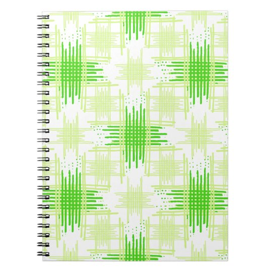 Intersecting Lines Pattern Spiral Notebook