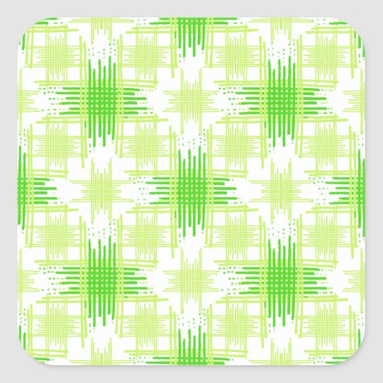 Intersecting Lines Pattern Square Sticker