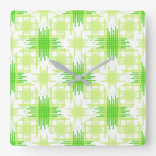 Intersecting Lines Pattern Square Wall Clock