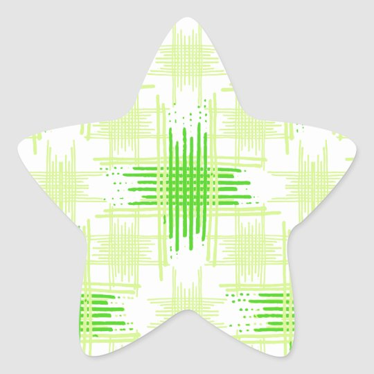 Intersecting Lines Pattern Star Sticker