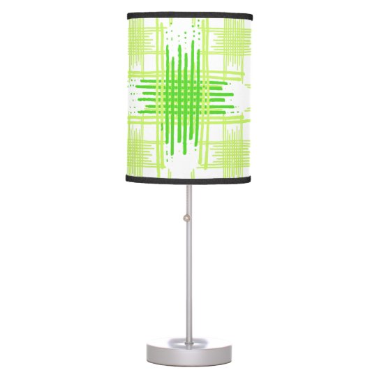 Intersecting Lines Pattern Table Lamp