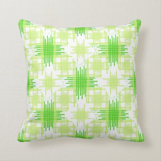 Intersecting Lines Pattern Throw Pillow