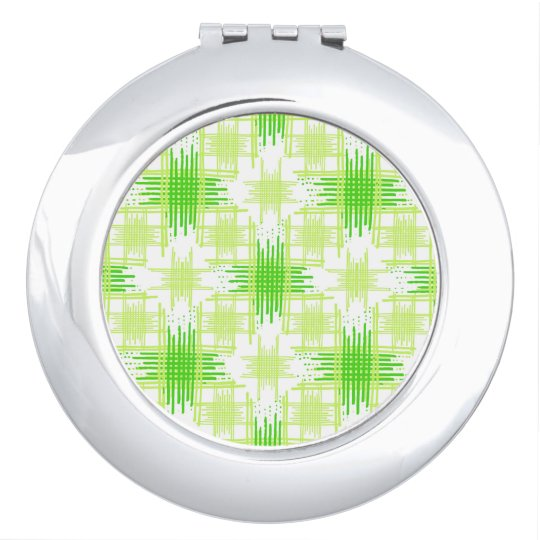 Intersecting Lines Pattern Travel Mirror