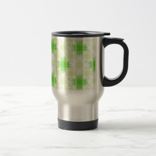 Intersecting Lines Pattern Travel Mug