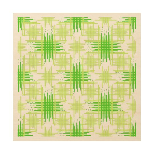 Intersecting Lines Pattern Wood Wall Art