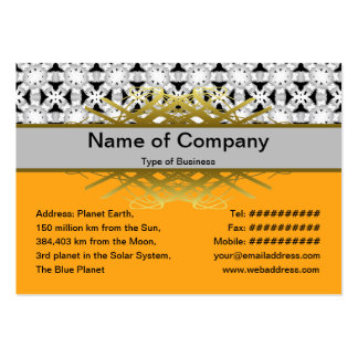 Intersecting Patterns Large Business Card