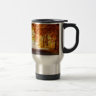 INTERSECTION OF LIGHT AND COLOUR TRAVEL MUG