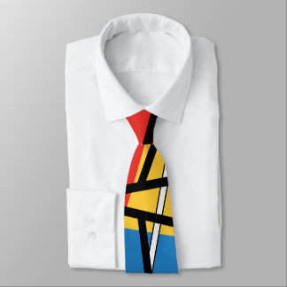 Intersection of Lines & Planes - Abstract Art Tie