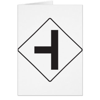 Intersection Road Sign Greeting Cards