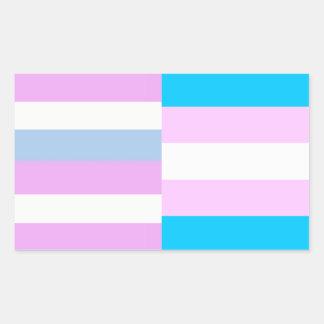 Intersex/trans pride flags sticker
