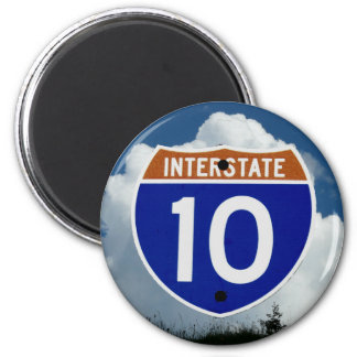 Interstate 10 Highway Shield, Clouds and Sky Magnet