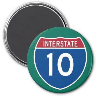 Interstate 10 (I-10) Highway Sign Magnet