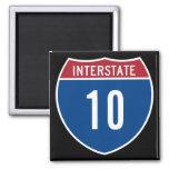 Interstate 10 square magnet