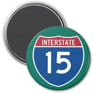 Interstate 15 (I-15) Highway Sign Magnet