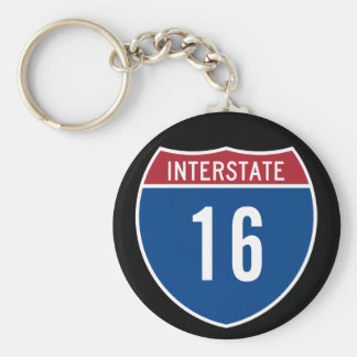 Interstate 16 keychain