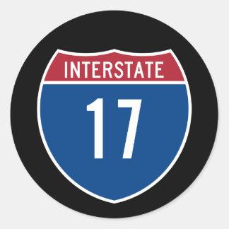Interstate 17 round sticker