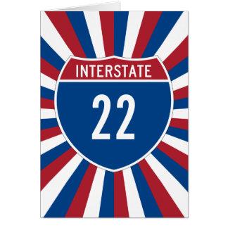 Interstate 22 card