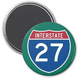 Interstate 27 (I-27) Highway Sign Magnet