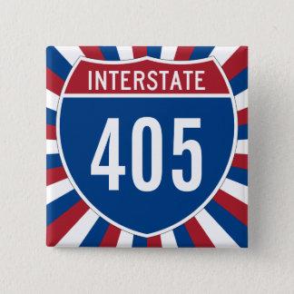 Interstate 405 2 inch square button