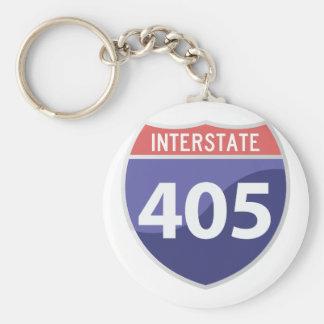 Interstate 405 (I-405) Calif. Highway Road Trip Basic Round Button Keychain
